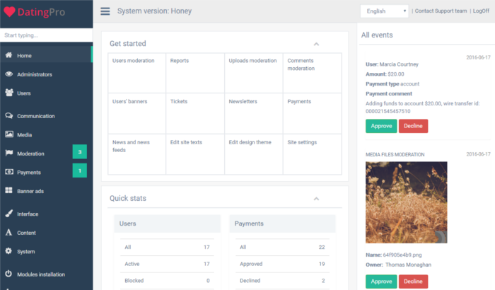 dating-pro-honey-responsive-admin-panel-gentelella