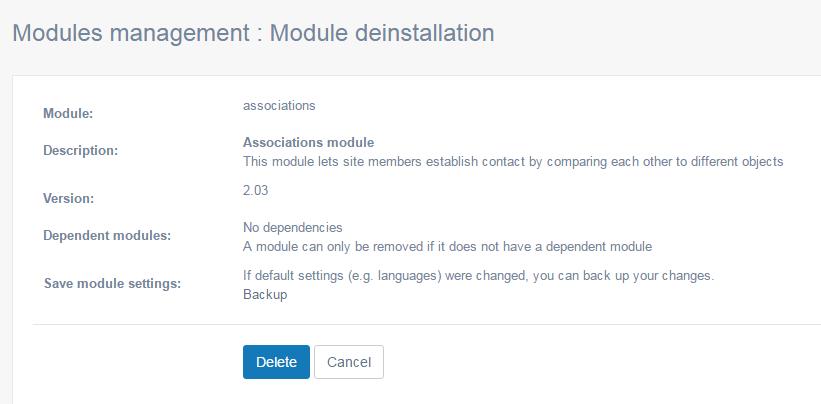 delete-deinstall-module