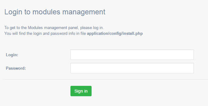 login-to-modules-management