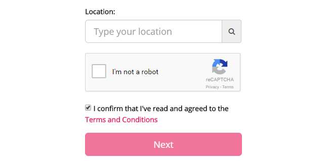 Dating Pro software: reCAPTCHA