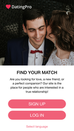 Android dating app demo by PG Dating Pro