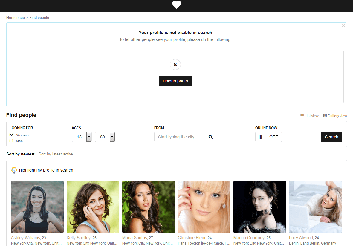 PG Dating Pro: Visibility in search