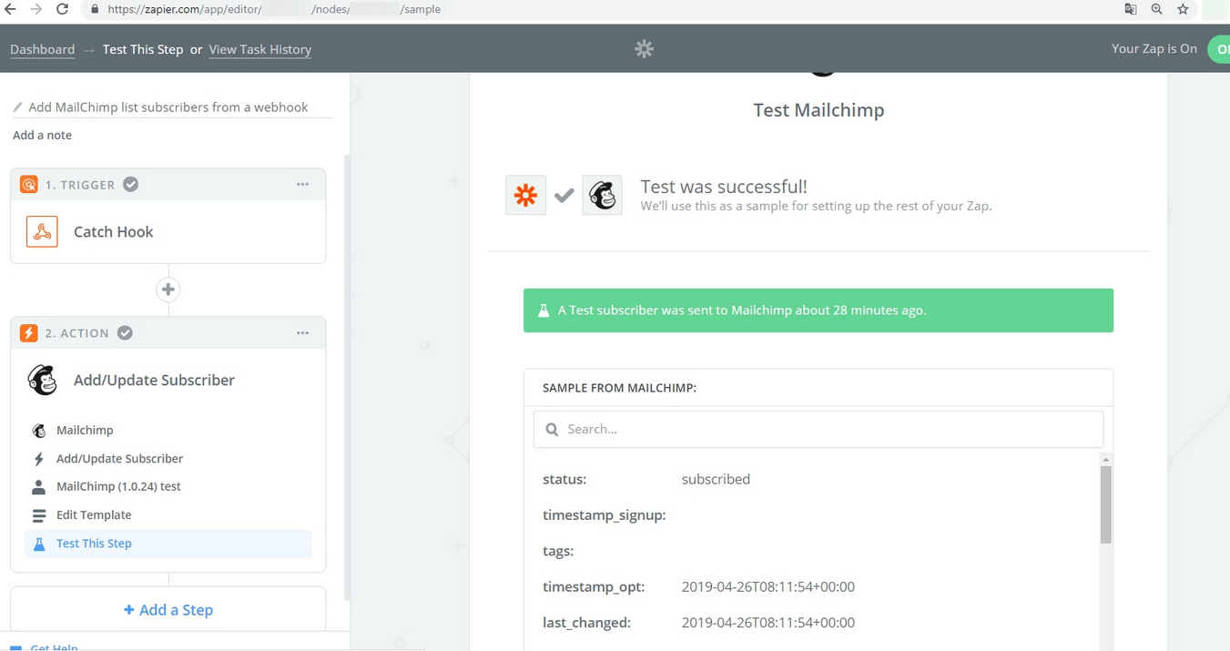 PG Dating Pro: Use MailChimp via Zapier