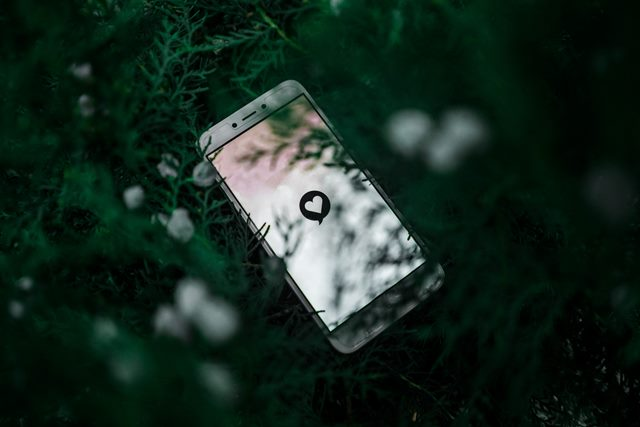 White smartphone near green plan